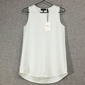 Theory ~ Slit Front Texture Tank Top